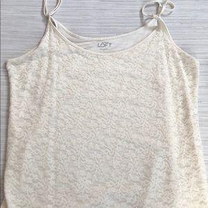 Loft lace tank top
